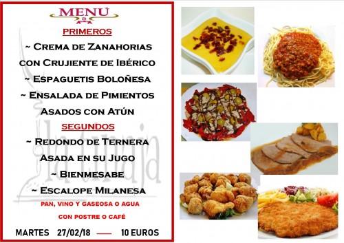 menu 27 del 2