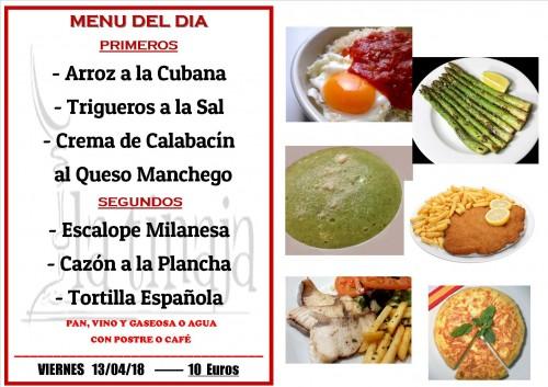menu 13 del 4