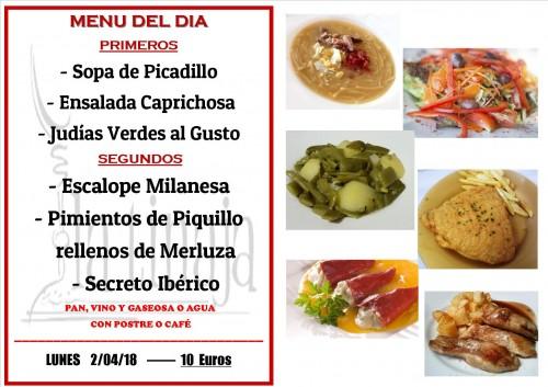 menu 2 del 4